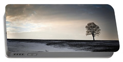 Lonesome Tree On A Hill IIi Portable Battery Charger by David Sutton