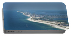Long, Aerial, Beach View Portable Battery Charger