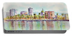 Long Beach Coastline Reflections Portable Battery Charger