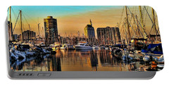 Portable Battery Charger featuring the photograph Long Beach Harbor by Mariola Bitner