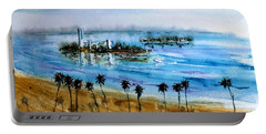 Long Beach Oil Islands Before Sunset Portable Battery Charger