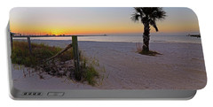 Portable Battery Charger featuring the photograph Long Beach Sunrise - Mississippi - Beach by Jason Politte