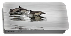 Long Beaked Common Dolphin With Calf Portable Battery Charger