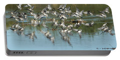 Portable Battery Charger featuring the photograph Long-billed Dowitchers by Tam Ryan