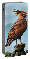 Long Crested Eagle Portable Battery Charger by Anthony Mwangi