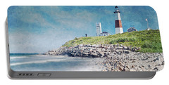 Long Island Lighthouse Portable Battery Charger by Kai Saarto
