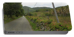 Long Road Into Colombier Portable Battery Charger by Margaret Brooks