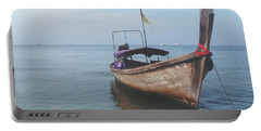 Portable Battery Charger featuring the photograph Long Tail Boat Stillness by Ivy Ho