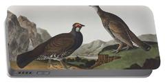 Long-tailed Or Dusky Grous Portable Battery Charger by John James Audubon