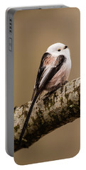 Long-tailed Tit On The Oak Branch Portable Battery Charger
