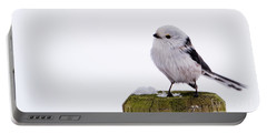 Long-tailed Tit On The Pole Portable Battery Charger by Torbjorn Swenelius