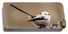 Long-tailed Tit Wag The Tail Portable Battery Charger by Torbjorn Swenelius