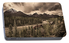 Portable Battery Charger featuring the photograph Long Train Running by John Poon