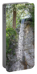 Portable Battery Charger featuring the photograph Long Waterfall Drop by Raphael Lopez