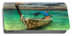 Portable Battery Charger featuring the photograph Longboat Sunset by Adrian Evans