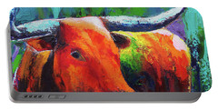 Longhorn Jewel Portable Battery Charger by Karen Kennedy Chatham