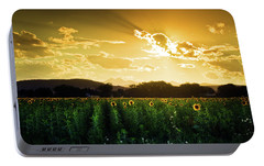 Portable Battery Charger featuring the photograph Longmont Summer Skies 2 by John De Bord