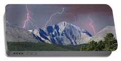 Longs Peak Lightning Storm Fine Art Photography Print Portable Battery Charger