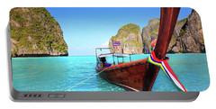 Longtail Boat At Maya Bay Portable Battery Charger