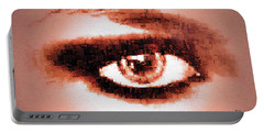 Look Into My Eye Portable Battery Charger by Paula Ayers