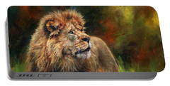 Look Of The Lion Portable Battery Charger by David Stribbling