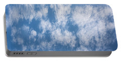 Look Up Not Down Clouds Portable Battery Charger by Terry DeLuco