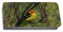 Looking At You - Western Tanager Portable Battery Charger