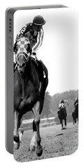 Looking Back, 1973 Secretariat, Stretch Run, Belmont Stakes Portable Battery Charger