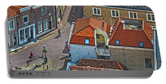 Looking Down From The Church Tower In Brielle Portable Battery Charger by Frans Blok