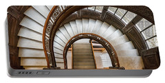Looking Down The Rookery Building Winding Staircase Portable Battery Charger
