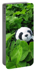 Portable Battery Charger featuring the photograph Looking For A Lucky Clover by Ausra Huntington nee Paulauskaite