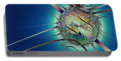 Portable Battery Charger featuring the digital art Looking Glass by Kiki Art