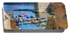 Looking Out Onto Dubrovnik Harbour Portable Battery Charger