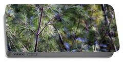 Looking Through The Pine Needles Portable Battery Charger