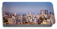 Portable Battery Charger featuring the photograph Looking Towards The Sea - Miraflores by Mary Machare