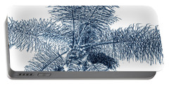 Looking Up At Palm Tree Blue Portable Battery Charger by Ben and Raisa Gertsberg