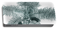Looking Up At Palm Tree Green Portable Battery Charger by Ben and Raisa Gertsberg