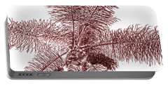 Looking Up At Palm Tree Red Portable Battery Charger by Ben and Raisa Gertsberg