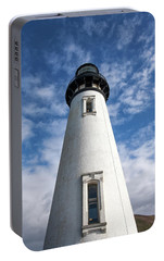 Portable Battery Charger featuring the photograph Looking Up At The Lighthouse by Mary Jo Allen