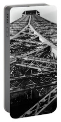 Portable Battery Charger featuring the photograph Looking Up From The Eiffel Tower by Darlene Berger