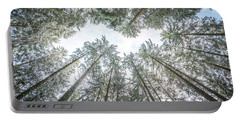 Portable Battery Charger featuring the photograph Looking Up In The Forest by Hannes Cmarits