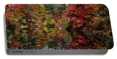 Portable Battery Charger featuring the photograph Looking Up The Chocorua River by Jeff Folger