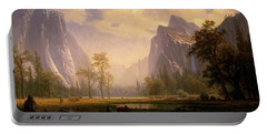 Looking Up The Yosemite Valley  Portable Battery Charger