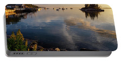 Lookout Point, Harpswell, Maine  -99044-990477 Portable Battery Charger by John Bald