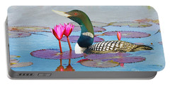 Loon And Lotus Portable Battery Charger