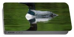 Loon Reflections On The Lake Portable Battery Charger