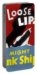 Loose Lips Might Sink Ships Portable Battery Charger