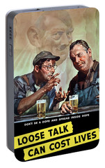 Loose Talk Can Cost Lives - Ww2 Portable Battery Charger by War Is Hell Store