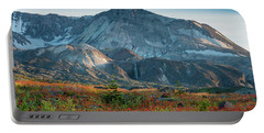 Loowit Falls Mount St Helens Wildflowers Portable Battery Charger by Mike Reid