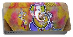 Lord Ganesha With Mantra Om Gam Ganapateye Namaha Portable Battery Charger